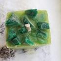 Tömb gyertya kiwi illattal 7., Dekoráció, Otthon, lakberendezés, Gyertya, mécses, gyertyatartó, Kiwi illatú,zöld színű,nagyobb méretű tömbgyertya,súlya:391 gramm,7x6x10cm., Meska