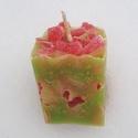 Tömb gyertya guava-eper illattal 10., Dekoráció, Otthon, lakberendezés, Gyertya, mécses, gyertyatartó, Guava-eper illatú,2 színű,nagyobb méretű tömbgyertya,súlya:445gramm,7x10x7cm., Meska