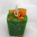 Tömb gyertya mandarin-bazsalikom-lime illattal 13., Dekoráció, Otthon, lakberendezés, Gyertya, mécses, gyertyatartó, Mandarin-lime-bazsalikom illatú,2 színű,nagyobb méretű tömbgyertya,súlya:148gramm,4x9,5x4,5cm..., Meska