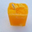 Tömb gyertya yuzu (japán grapefruit)  illattal 14., Dekoráció, Otthon, lakberendezés, Gyertya, mécses, gyertyatartó, Yuzu illatú,2 színű,nagyobb méretű tömbgyertya,súlya:332gramm,6,5x9,5x7cm., Meska