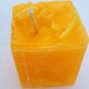 Tömb gyertya yuzu (japán grapefruit)  illattal 15., Dekoráció, Otthon, lakberendezés, Gyertya, mécses, gyertyatartó, Yuzu illatú,2 színű,nagyobb méretű tömbgyertya,súlya:354gramm,7x8x7cm., Meska