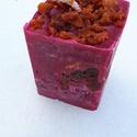 Tömb gyertya csoki-eper illattal 16., Dekoráció, Otthon, lakberendezés, Gyertya, mécses, gyertyatartó, Csoki-eper illatú,2 színű,nagyobb méretű tömbgyertya,súlya:380gramm,7x9x7cm., Meska