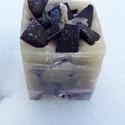 Tömb gyertya levendula-vanília illattal 20., Dekoráció, Otthon, lakberendezés, Gyertya, mécses, gyertyatartó, Levendula-vanília  illatú,2 színű,nagyobb méretű tömbgyertya,súlya:354gramm,7x8x7,5cm., Meska