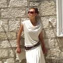 Empire ruha, Ruha, divat, cipő, Női ruha, Ruha, Bohém, megnyerő, eredeti.  Letisztult, bő szabás, mely a derék elfedésére kitűnően alkalmas..., Meska