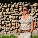 Athena overall, Ruha, divat, cipő, Női ruha, Nadrág, Varrás, Hangulatában görögös, bő, levegős, test köré művészien redőző natúr kezeslábas, mely kiegészítőkkel..., Meska
