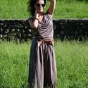 """Arina - Bő szárú overall, Ruha, divat, cipő, Női ruha, Nadrág, Varrás, A """"slamposság"""" jegyében. Ejtett elejű, mély ülepű overall.   A lezser overallt bő vonalú, derékban ..., Meska"""