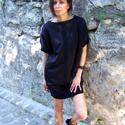 Black black velvet, Ruha, divat, cipő, Női ruha, Ruha, Varrás, Lefegyverző egyszerűségével vívja ki a figyelmet.  A lefele szűkülő ruhát, egy bársonycsík teszi ka..., Meska