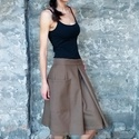 Cotillon szoknya - nagy zsebes szoknya, Ruha & Divat, Női ruha, Szoknya, Varrás, Szoknya vagy nadrág?   Bő hajtás, látványos zseb, kényelmes szabás jellemzi ezt a rafinált kinézetű..., Meska