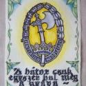 """Honvédő katonákra emlékezve, Képzőművészet, Férfiaknak, Magyar motívumokkal, Grafika, Fotó, grafika, rajz, illusztráció, Festészet, Merített papírra, vegyes technikával (vízfesték, filc, tus) készítettem ezt az """"emléklapot"""" a Szent..., Meska"""