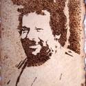 """""""B. S."""" 2. - hőrajz merített papíron, Képzőművészet, Grafika, Rajz, Fotó, grafika, rajz, illusztráció, Gyerekkorunk (a mai gyerekeknek is) egyik nagy kedvencéről, Bud Spencerről készített hőrajz kézzel ..., Meska"""