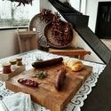 CORNUS kézműves, vastag, nagy tölgyfa vágódeszka / tálalódeszka , Otthon & lakás, Konyhafelszerelés, Vágódeszka, Famegmunkálás, Mérete: 45*30*4 cm. Súly: 3,95 kg.  Anyaga: tölgyfa             Alkalmas zöldségek, gyümölcsök, hús..., Meska