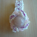 spirál-gyűrű, Ékszer, Esküvő, Gyűrű, Esküvői ékszer, Kásagyöngyből készítettem elegáns-fiatalos nagyon csinos ékszert, melyben a fehér, lila, ró..., Meska