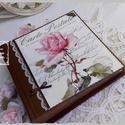 Vintage rózsás fotóalbum 100 db fényképnek, Naptár, képeslap, album, Fotóalbum, Jegyzetfüzet, napló, Vintage virágos fotóalbumot készítettem, amelybe 100 db 10x15-ös képet tudsz elhelyezni. Belü..., Meska