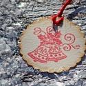 """""""Karácsonyi harangok"""" Karácsonyi ajándékkísérő, Dekoráció, Karácsonyi, adventi apróságok, Ajándékkísérő, képeslap, Karácsonyi dekoráció, Egyedi készítésű karácsonyi ajándékkísérő, melyet strukturált felületű kartonra nyomdázással készíte..., Meska"""