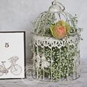 """""""Vintage bicikli"""" asztalszám, Esküvő, Esküvői dekoráció, Meghívó, ültetőkártya, köszönőajándék, Papírművészet, Egyedi készítésű asztalszám, melyet strukturált felületű kartonra nyomdázással (nem nyomtatással) k..., Meska"""