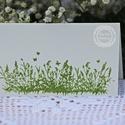 """""""Zöld mező"""" ültetőkártya, Esküvő, Esküvői dekoráció, Meghívó, ültetőkártya, köszönőajándék, Egyedi készítésű ültetőkártya, melyet strukturált felületű kartonra nyomdázással (nem nyomtatással) ..., Meska"""