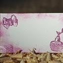 """""""Masni és parfüm""""  ültetőkártya, Esküvő, Esküvői dekoráció, Meghívó, ültetőkártya, köszönőajándék, Papírművészet, Egyedi készítésű ültetőkártya, melyet strukturált felületű kartonra nyomdázással (nem nyomtatással)..., Meska"""