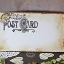 """""""Postcard"""" ültetőkártya, Esküvő, Esküvői dekoráció, Meghívó, ültetőkártya, köszönőajándék, Egyedi készítésű ültetőkártya, melyet strukturált felületű kartonra nyomdázással (nem nyomtatással) ..., Meska"""