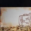 """""""Régi bőrönd"""" ültetőkártya, Esküvő, Esküvői dekoráció, Meghívó, ültetőkártya, köszönőajándék, Egyedi készítésű ültetőkártya, melyet strukturált felületű kartonra nyomdázással (nem nyomtatással) ..., Meska"""
