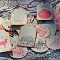 """""""Karácsonyi mix"""" ajándékkísérő , Dekoráció, Karácsonyi, adventi apróságok, Ajándékkísérő, képeslap, Karácsonyi dekoráció, Egyedi készítésű karácsonyi ajándékkísérő, melyet strukturált felületű kartonra nyomdázással készíte..., Meska"""