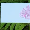 """""""Tropical"""" ültetőkártya, Esküvő, Esküvői dekoráció, Meghívó, ültetőkártya, köszönőajándék, Egyedi készítésű ültetőkártya, melyet strukturált felületű kartonra nyomdázással (nem nyomtatással) ..., Meska"""