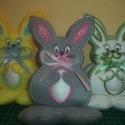 Húsvéti tojástartó nyúl, Dekoráció, Ünnepi dekoráció, Húsvéti apróságok, Egyedi megrendelésre készült termék., Meska