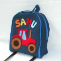 Névre szóló traktoros hátizsák, Rendelésre készült ez a szép színes kis tásk...