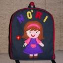 Kislánykás hátizsák - névre szóló, Táska, Baba-mama-gyerek, Hátizsák, Ez a táska megrendelésre készült. Kérésre Neked is szívesen elkészítem névvel, vagy név n..., Meska