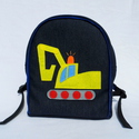 Hernyótalpas markolós hátizsák , Farmer és pamut anyagból készült ez a kis tás...