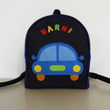 Kék autós hátizsák, Táska, Baba-mama-gyerek, Játék, Hátizsák, Rendelésre készült ez a szép színes kis táska.   Farmer és pamut alapanyagból, filc rátéttel készült..., Meska