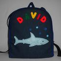 Cápás hátizsák, Rendelésre készült ez a szép színes kis tásk...