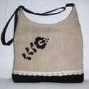 Női táska népi motívummal, Elegáns női táska. Alapanyaga erős vászon és...