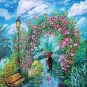 Virágod ösvényen, Képzőművészet, Festmény, Akril, 38*40 Farost ,gesso alapozás,akril festés, Meska