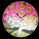 Lusta macsa fa óra (25cm), Otthon, lakberendezés, Falióra, óra, Csempéssz egy kis színt a szürke hétköznapokba! ;)   Gyönyörű,metál színű, kör alakú fe..., Meska