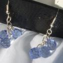 Kék csepp alakú fülbevaló, Szép és finom nyári fülbevaló csepp alakú cs...
