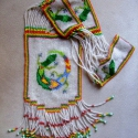 Indián téli nyaklánc, Ékszer, Nyaklánc, Indián téli nyaklánc tarka gyíkkal, eredeti és szokatlan. Ezzel a nyaklánccal lehetetlen észrevétlen..., Meska