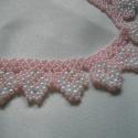 Virágzó almafa világos rózsaszín nyaklánc , Stílusos, tavaszi nyaklánc friss és kíméletes...
