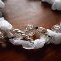 """Fehér hattyú nyaklánc , Ékszer, Nyaklánc, """"Fehér hattyú"""" nyaklánc. Szép stílusos fehér-ezüst nyaklánc. 44 cm hosszú. Cseh üveggyöngy, csipke, ..., Meska"""