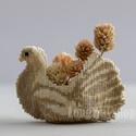Galamb 3D virágkosárka, Esküvő, Esküvői dekoráció, Galamb formájó gyöngyfűzött virágkosárka. Egyedi esküvői ajándék jó ízlésű embereknek!..., Meska