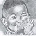 Kisfiú portré, Képzőművészet, Grafika, Rajz, Fotó, grafika, rajz, illusztráció, A/4 papír, portré, ceruza (grafit) rajz készítése.  Fotó (fénykép) alapján rajzolok grafikai portré..., Meska