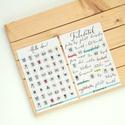 Feladataim matrica sorozat naptárhoz, Több mint 80 matricából álló, saját tervezé...