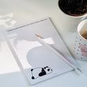 A5ös pandás  jegyzettömb, Saját grafikával készített, 50 oldalas egyedi ...