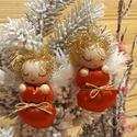 Aranyhajú ANGYALKA BÉBIK fényes, ünnepi pólyácskában, Dekoráció, Karácsonyi, adventi apróságok, Karácsonyfadísz, Karácsonyi dekoráció, Picuri angyalkáim is nagyon várják már az év legszebb ünnepét. Díszíthetik karácsonyfádat..., Meska