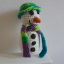 """Hóember, Baba-mama-gyerek, Dekoráció, """"Kisétáltam az udvarra nézni, hogyan hull a hó, s azt gondoltam, egy hóembert építeni volna j..., Meska"""