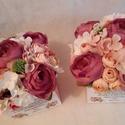 Szülőköszöntő, Bernadett kérésére készült virágboxok  A vir...