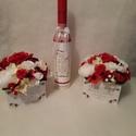 Bórdó és piros virágbox, Szeretnél névnapra, keresztelőre, házavatóra,...