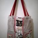 Tavaszi farmer táska, Táska, Válltáska, oldaltáska, Varrás, Nagyon szép és praktikus táskát készítettem. Méretei magasság 31 cm szélesség 31 cm  oldal szélessé..., Meska
