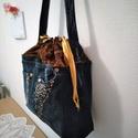 Csillogó farmer táska