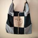 Pakolós  farmer táska, Táska, Válltáska, oldaltáska, Nagy pakolós farmer táskát készítettem. Méretei magasság 40 cm szelesség 34 cm oldal széles..., Meska