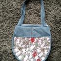 Virágos farmer táska, Táska, Válltáska, oldaltáska, Varrás, Megint el készült egy nagyon szép táska. Méretei magasság 30 cm 31 cm. oldal szélesség 7 cm fül hos..., Meska